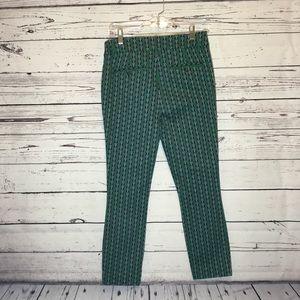 Anthropologie Pants - Anthropologie Essential Slim Trousers Green Motif